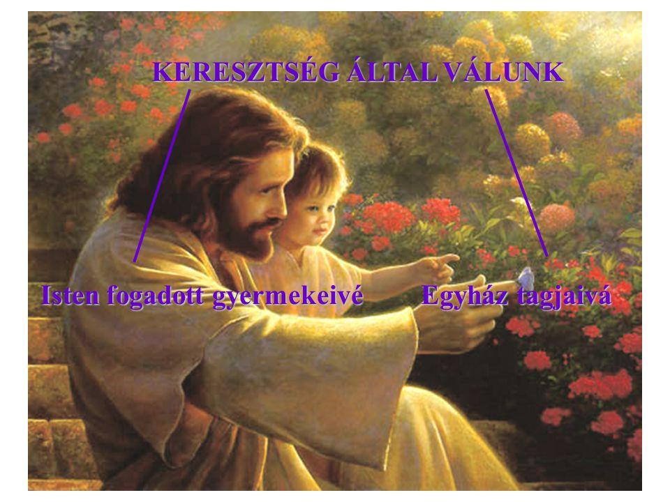 KERESZTSÉG ÁLTAL VÁLUNK Egyház tagjaivá Isten fogadott gyermekeivé