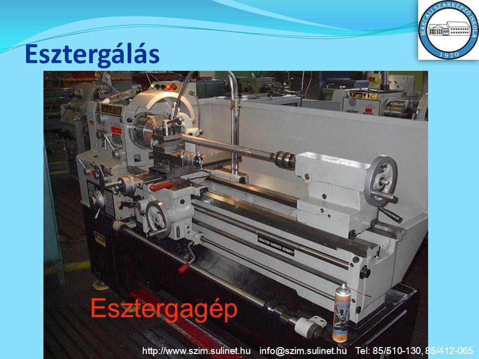 Esztergálás Esztergagép http://www.szim.sulinet.hu info@szim.sulinet.hu Tel: 85/510-130, 85/412-065