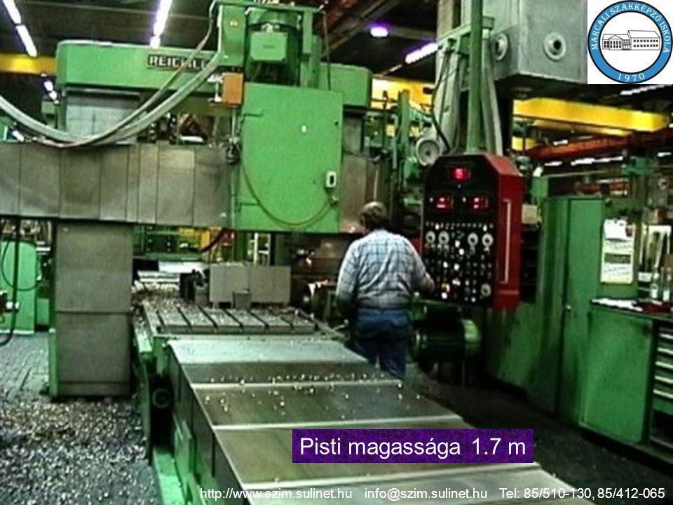 Pisti magassága 1.7 m http://www.szim.sulinet.hu info@szim.sulinet.hu Tel: 85/510-130, 85/412-065