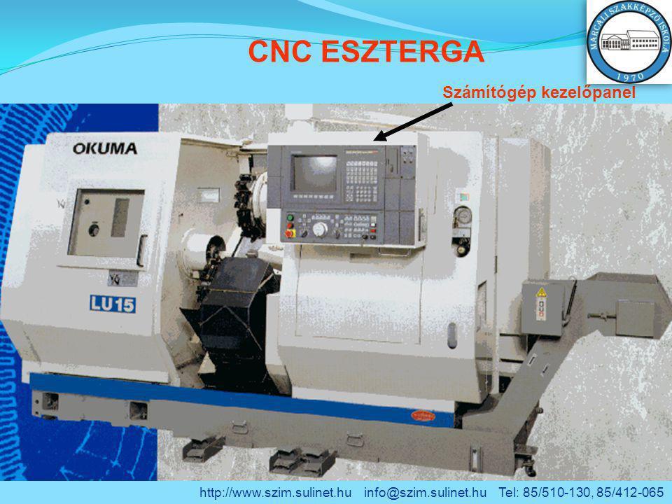 CNC ESZTERGA Számítógép kezelőpanel http://www.szim.sulinet.hu info@szim.sulinet.hu Tel: 85/510-130, 85/412-065