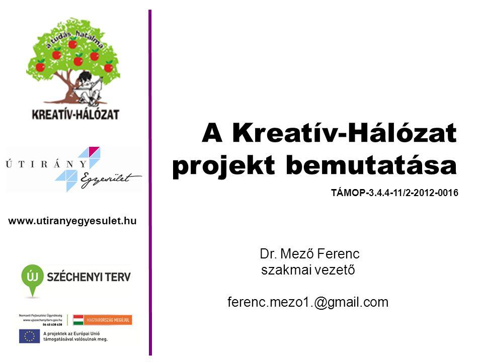 A Kreatív-Hálózat projekt bemutatása Dr.