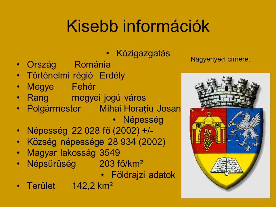 Kisebb információk Közigazgatás Ország Románia Történelmi régióErdély MegyeFehér Rangmegyei jogú város PolgármesterMihai Horaiu Josan Népesség Népessé