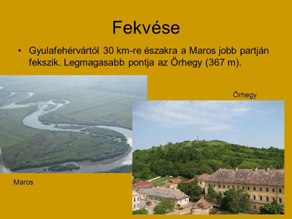 Fekvése Gyulafehérvártól 30 km-re északra a Maros jobb partján fekszik. Legmagasabb pontja az Őrhegy (367 m). Maros Őrhegy