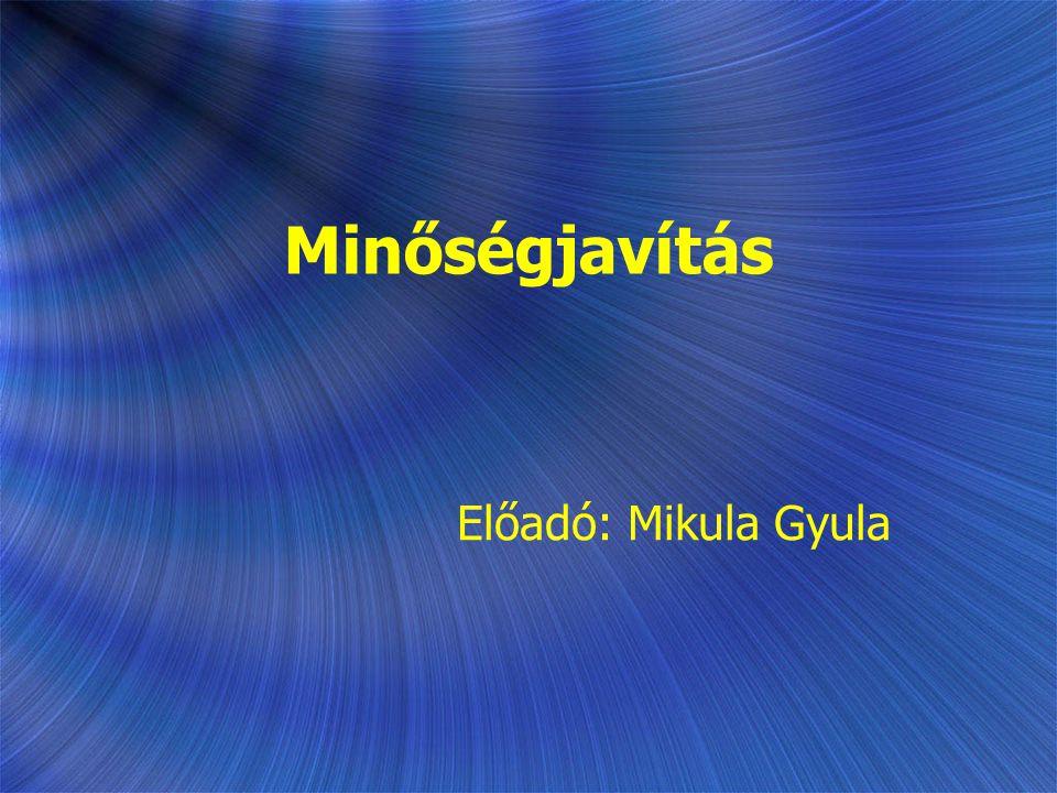 Minőségjavítás Előadó: Mikula Gyula