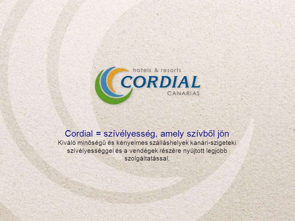 Cordial = szívélyesség, amely szívből jön Kiváló minőségű és kényelmes szálláshelyek kanári-szigeteki szívélyességgel és a vendégek részére nyújtott legjobb szolgáltatással.