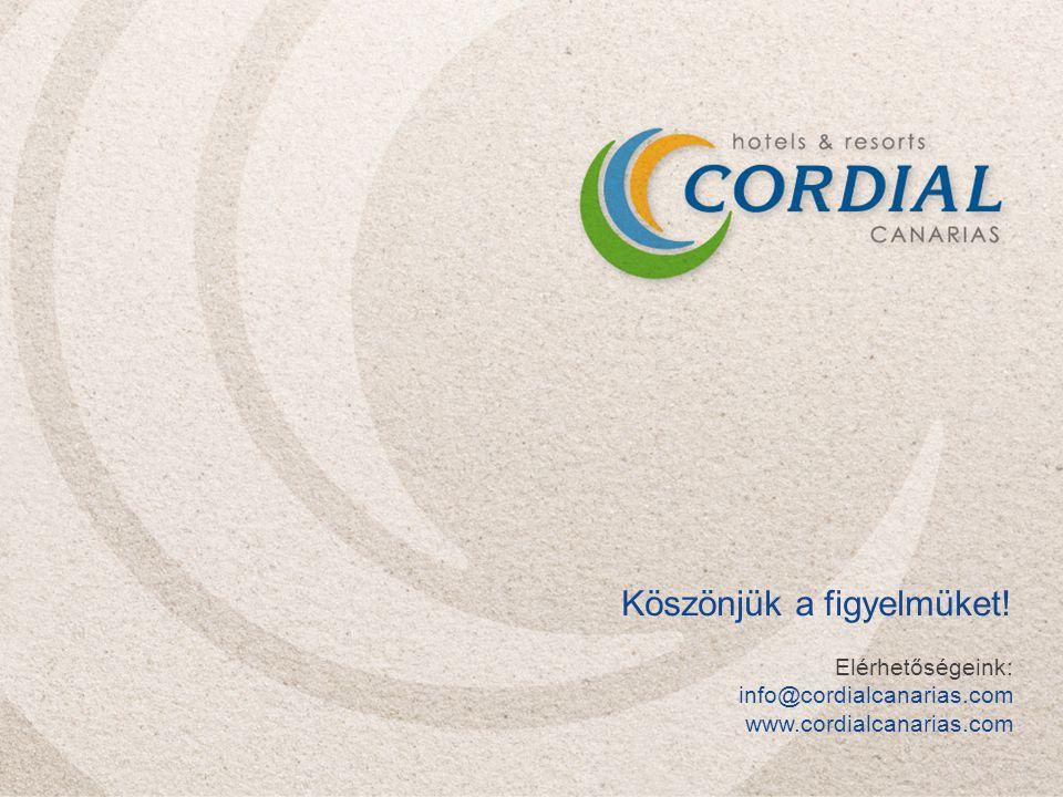 Köszönjük a figyelmüket! Elérhetőségeink: info@cordialcanarias.com www.cordialcanarias.com