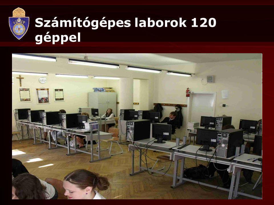 Számítógépes laborok 120 géppel