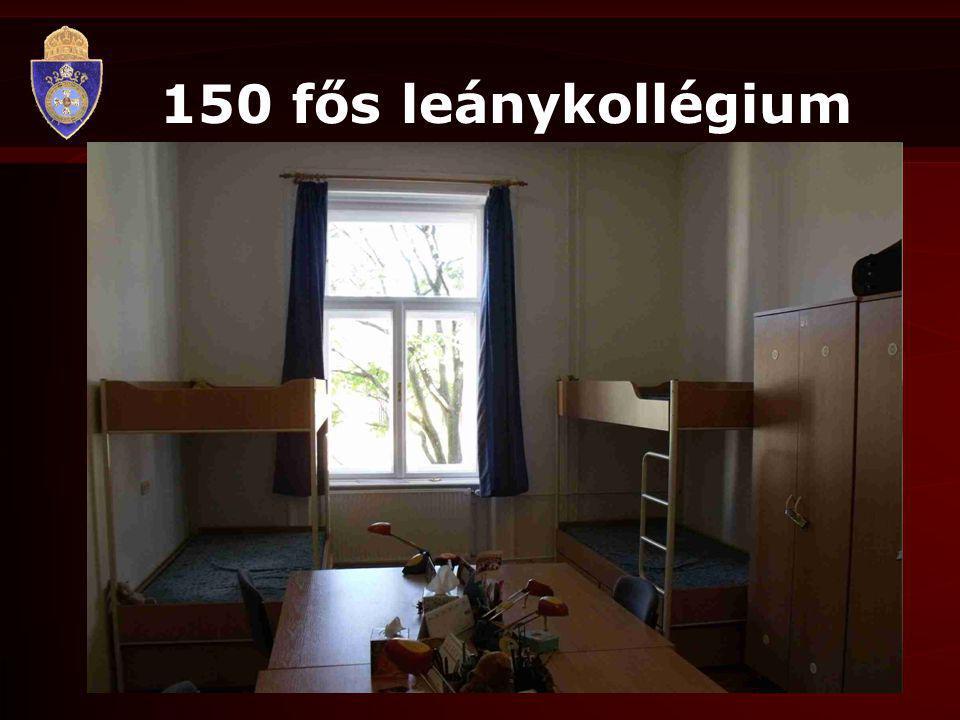 150 fős leánykollégium