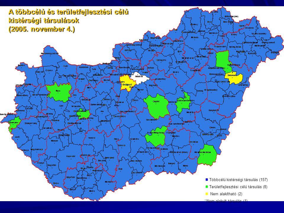 A többcélú és területfejlesztési célú kistérségi társulások (2005.