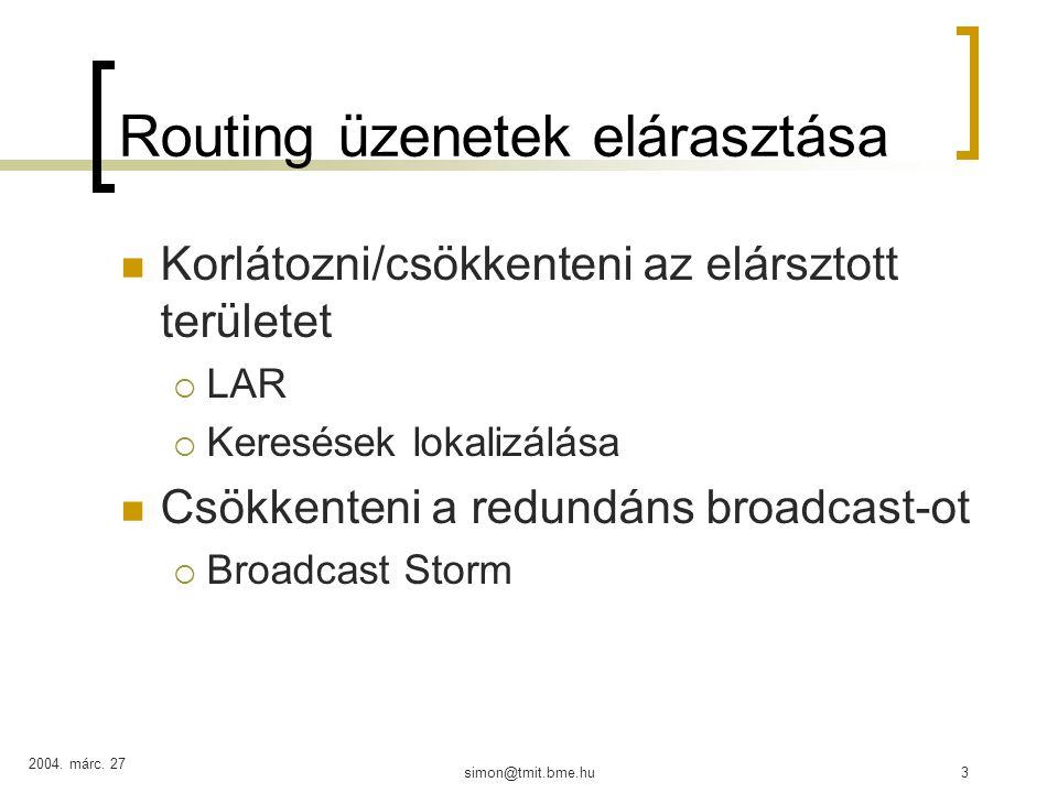 További változatok helyzetinformációt használó MANET routingra