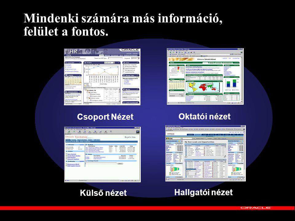 Mindenki számára más információ, felület a fontos.