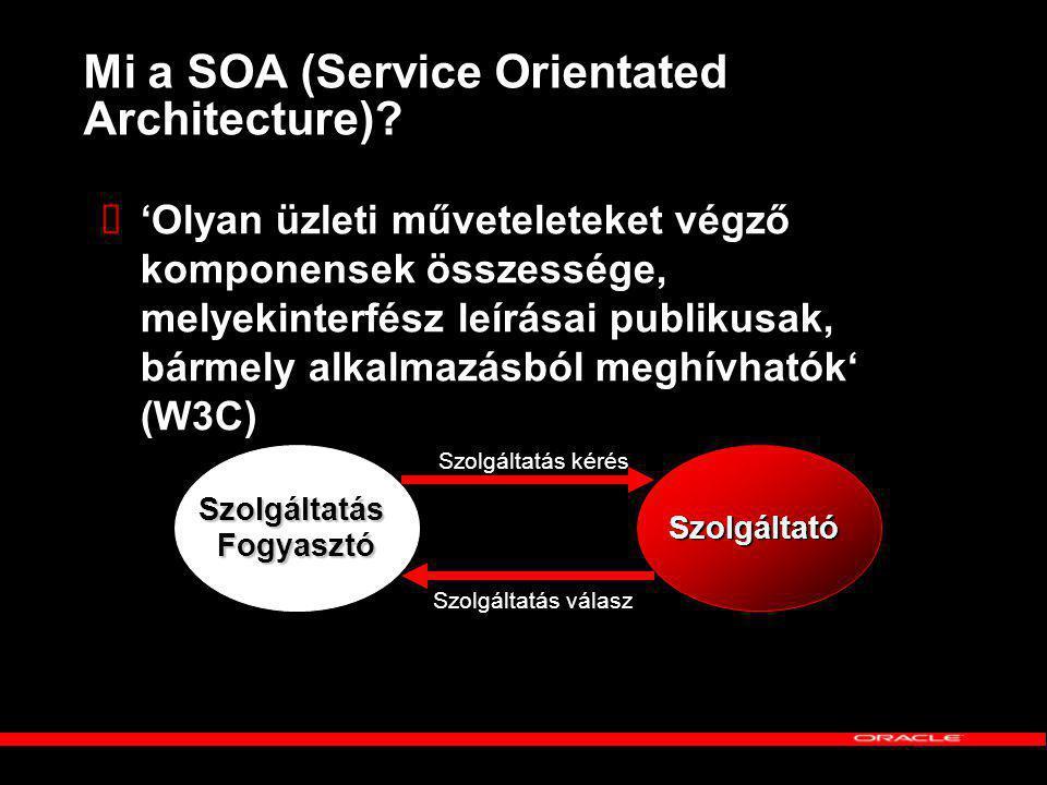Mi a SOA (Service Orientated Architecture).