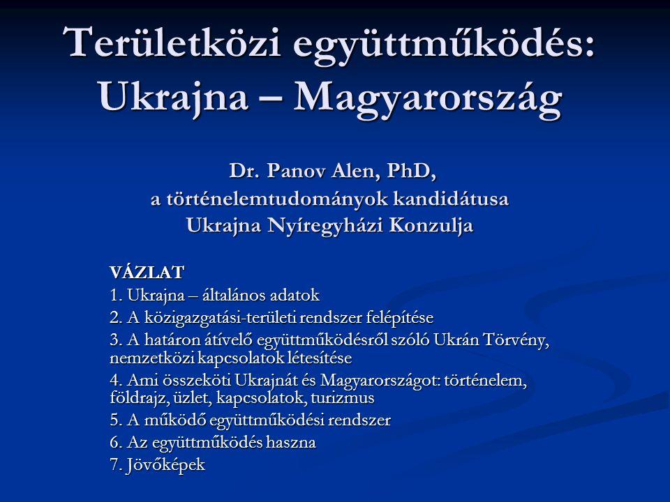 Területközi együttműködés: Ukrajna – Magyarország Dr.