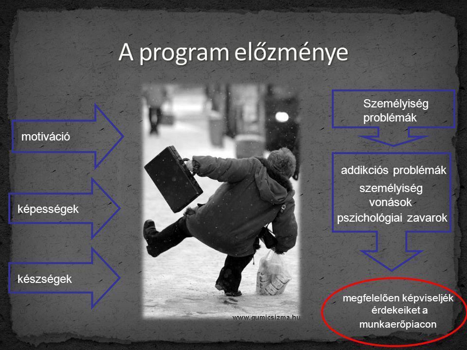 motiváció képességek készségek Személyiség problémák addikciós problémák személyiség vonások pszichológiai zavarok megfelelően képviseljék érdekeiket