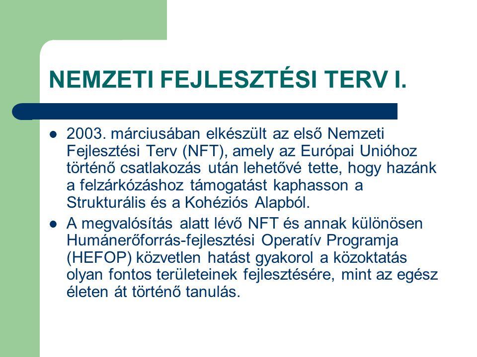 NEMZETI FEJLESZTÉSI TERV I. 2003.