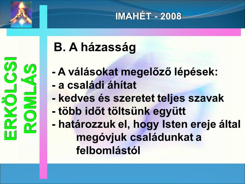 IMAHÉT - 2008 B.