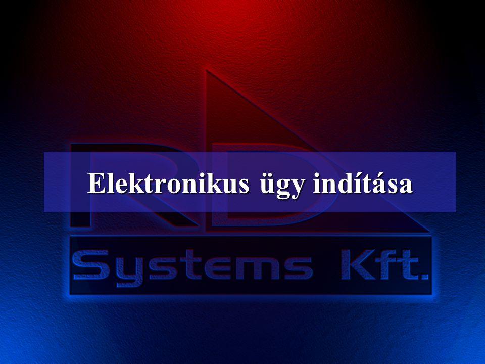 Elektronikus ügy indítása
