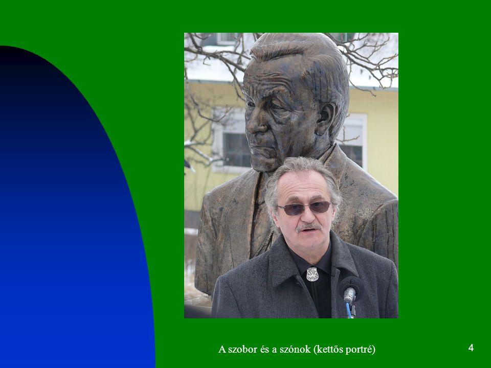 4 A szobor és a szónok (kettős portré)
