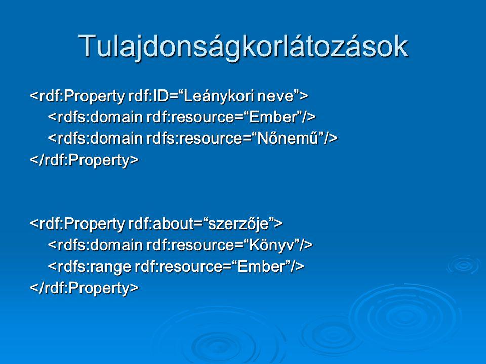 Tulajdonságkorlátozások </rdf:Property> </rdf:Property>