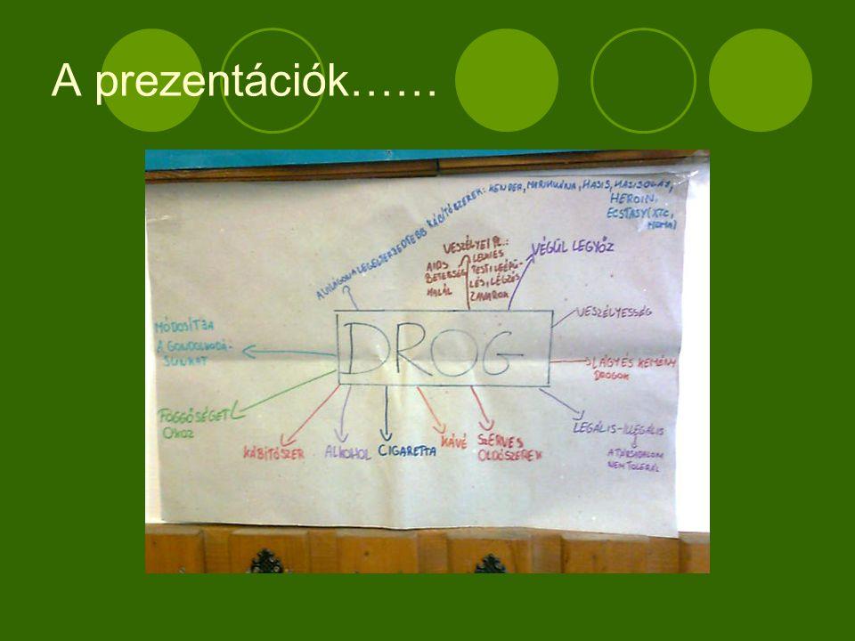 A prezentációk……