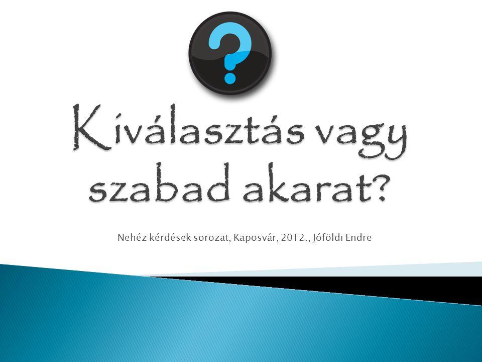 Nehéz kérdések sorozat, Kaposvár, 2012., Jóföldi Endre