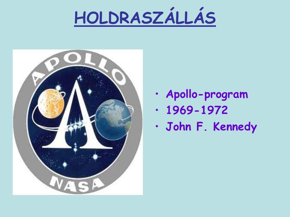 HOLDRASZÁLLÁS Apollo-program 1969-1972 John F. Kennedy