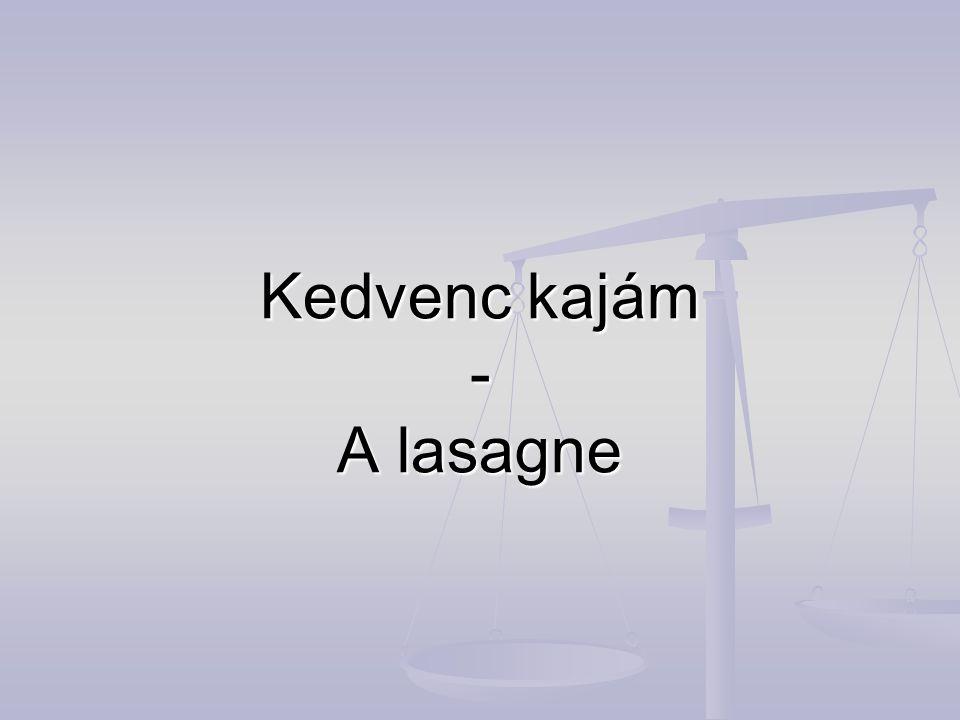 Kedvenc kajám - A lasagne