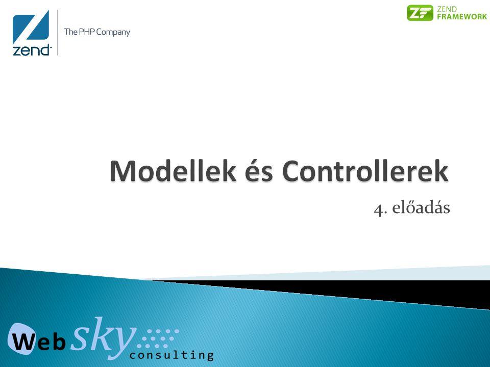  Utility methods _forward() _redirect()  Action helperek  Action-ök: Pld.: ForumController, listtopicAction() http://azenoldalam.hu/forum/listtopic (view: views/scripts/forum/listtopic.phtml)