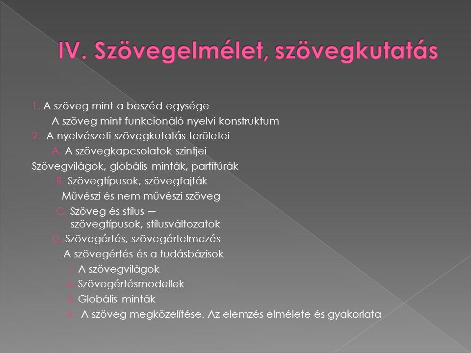 A kommunikáció egysége a szöveg :  nyelvi és nem nyelvi szöveg A verbális (nyelvi) kommunikáció  egysége: a nyelvi szöveg.