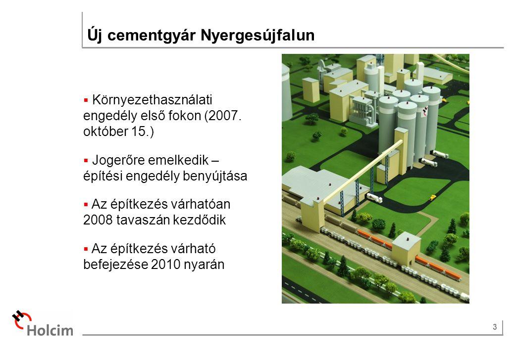 3 Új cementgyár Nyergesújfalun  Környezethasználati engedély első fokon (2007.