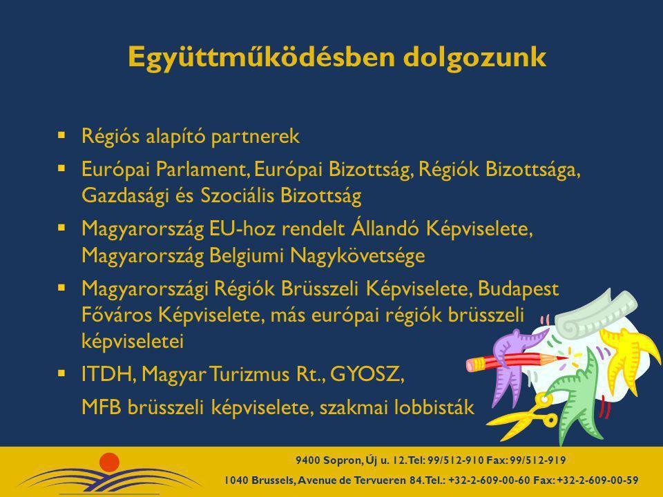  Régiós alapító partnerek  Európai Parlament, Európai Bizottság, Régiók Bizottsága, Gazdasági és Szociális Bizottság  Magyarország EU-hoz rendelt Á