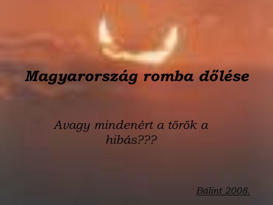 Magyarország romba dőlése Avagy mindenért a török a hibás??? Bálint 2008.