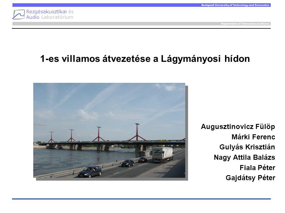 Rezgésakusztikai és Audio Laboratórium Department of Telecommunications Budapest University of Technology and Economics 1-es villamos átvezetése a Lág