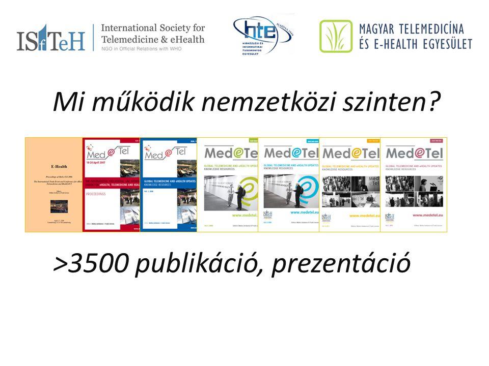 >3500 publikáció, prezentáció Mi működik nemzetközi szinten?