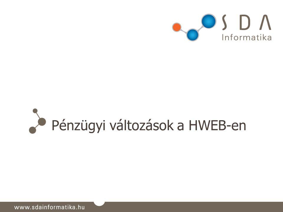 Pénzügyi változások a HWEB-en
