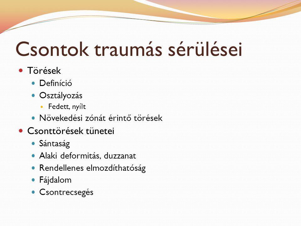 Autóbaleset Előfordulás Tünetek Általában súlyos sérülések Külsérelmi nyomok, törések, ficamok Belső szervek sérülése, repedése (hólyag, parenchim szervek) Sokk Teendők Eszméletlen betegnél légzés és keringés ellenőrzése Légutak átjárhatóságának biztosítása Nyálkahártya (fogíny, kötőhártya) ellenőrzése Súlyos vérzésekre nyomókötés Sebek kitakarítása csapvízzel vagy higított Betadinos oldattal Minden esetben állatorvoshoz vinni a sérültet