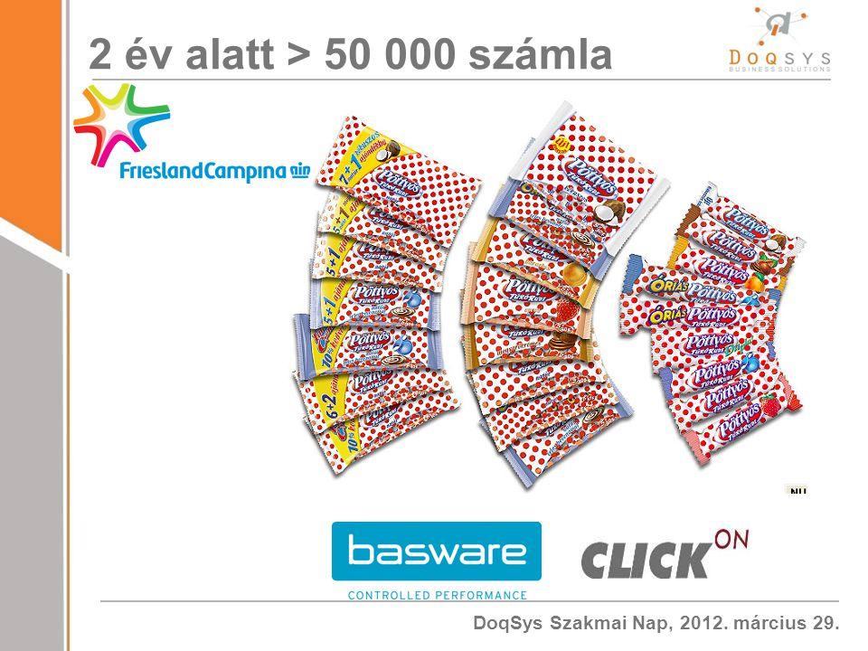 DoqSys Szakmai Nap, 2012. március 29. 2 év alatt > 50 000 számla