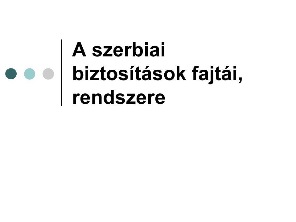 A szerbiai biztosítások fajtái, rendszere