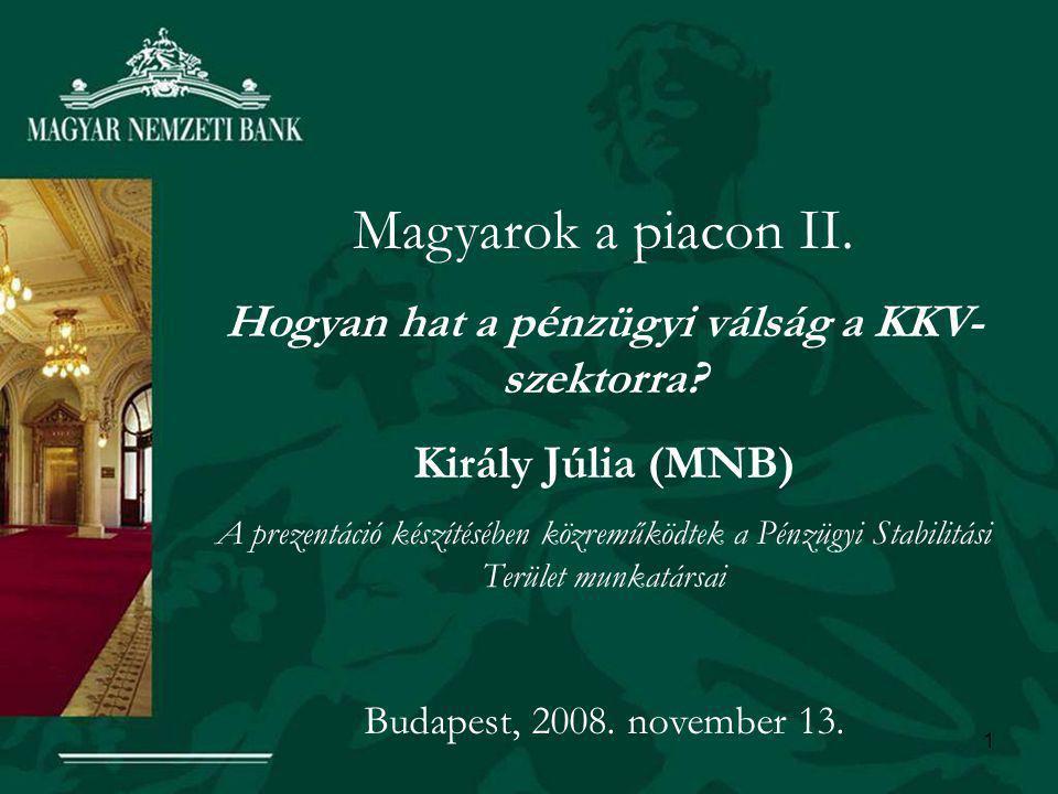1 Magyarok a piacon II. Hogyan hat a pénzügyi válság a KKV- szektorra.