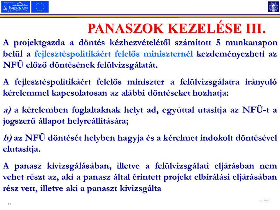 13 2014.09.18.PANASZOK KEZELÉSE III.