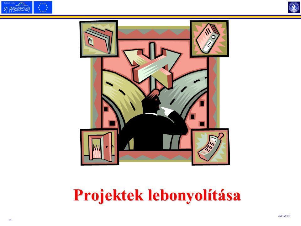 14 2014.09.18. Projektek lebonyolítása