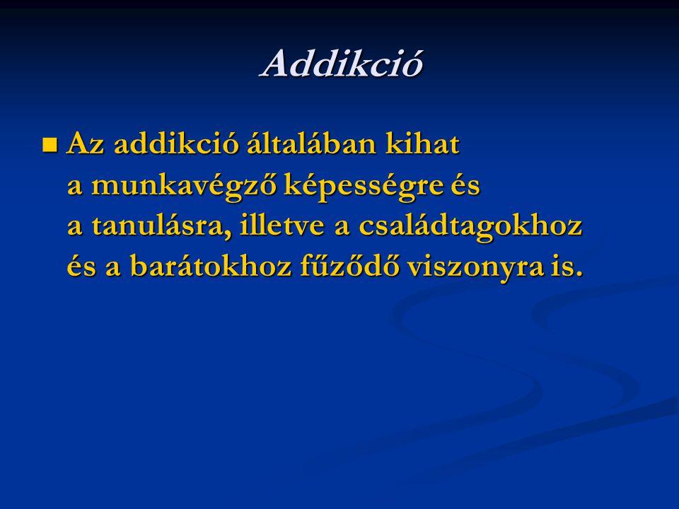 A droghasználat típusai folyt.4.