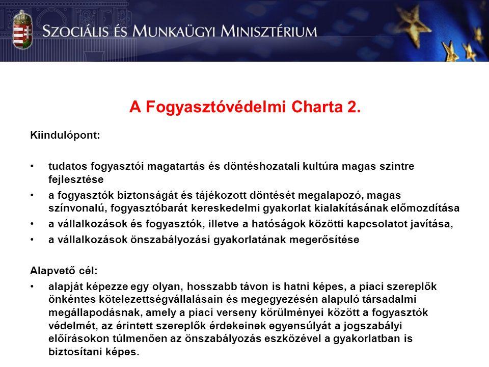 A Fogyasztóvédelmi Charta 2.