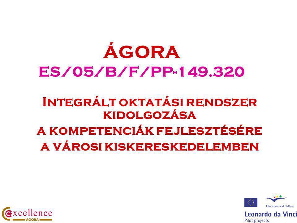 ÁGORA ES/05/B/F/PP-149.320 Integrált oktatási rendszer kidolgozása a kompetenciák fejlesztésére a városi kiskereskedelemben