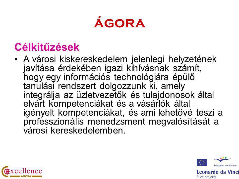 ágora A projekt várható eredményei kiskereskedelmi kompetenciakatalógus képzési igények felmérése továbbképzési program és tananyagok a kulcskompetenciák fejlesztésére