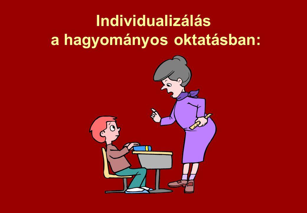 Individualizálás a hagyományos oktatásban: