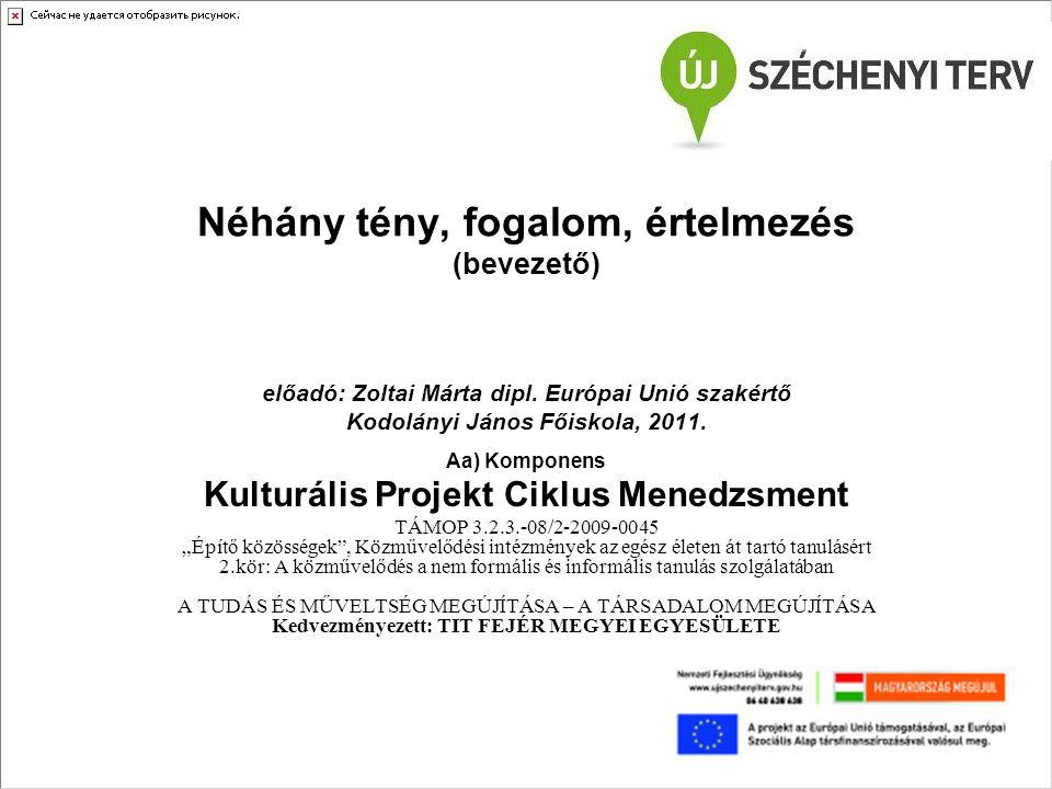 Az EU (II.modul) előadások célja 1.Átfogó ismeretek átadása az EU által támogatott pályázatok tartalmi (formai) tervezéséhez; 2.Általános ismeretek szintetizálása, bővítése annak érdekében, hogy a hétköznapi információkat értelmezni lehessen, be lehessen építeni a pályázati koncepció kialakítása során; 3.Állampolgári (európai polgári)ismeretek bővítése annak érdekében, hogy az állampolgári (európai polgári) jogokkal élni lehessen; 4.Nagyobb léptékekben való gondolkodásra ösztönzés, a világ, de főképpen az Európai Unió gazdasági-politikai folyamatainak, össze-függéseinek megismerése, annak érdekében, hogy egy projekt ciklus megtervezése az elvárt követelményeknek legyen megfelelő; 5.Az EU tagállamokkal szemben támasztott követelményeinek megismerése, annak érdekében, hogy pályázat esetén jogszabályi követés rendben legyen; 6.Módszerei: prezentációk, sok háttéranyag az összefüggések megértésére, ennek jelentős része nem vizsgaanyag, az hangsúlyozásra kerül; 7.Aktív részvételre, beszélgetésre, közös gondolkodásra motiváló (komoly) szándék.