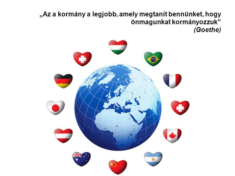 A globalizáció Globalizáción a nyugati civilizáció kezdeményezésére történő világszintű egységesedési (univerzalizálódási) folyamatokat, és azok következményeit értjük az élet számos területén: gazdasági globalizáció pénzügyi globalizáció kulturális globalizáció –szimbólumok globalizációja információs globalizáció nyelvi globalizáció A globalizációs folyamatot a nemzetek közötti megállapodások és nemzetek feletti intézmények szabályozzák.