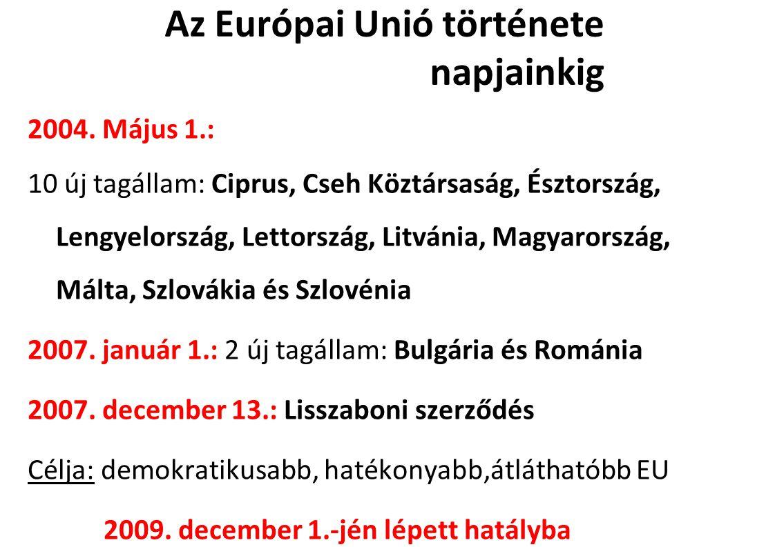 Az Európai Unió története napjainkig 2004.