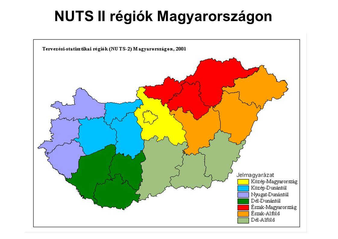 NUTS II régiók Magyarországon